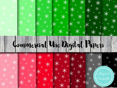 snowflake digital papers, christmas snowflake digital papers, instant download, christmas background