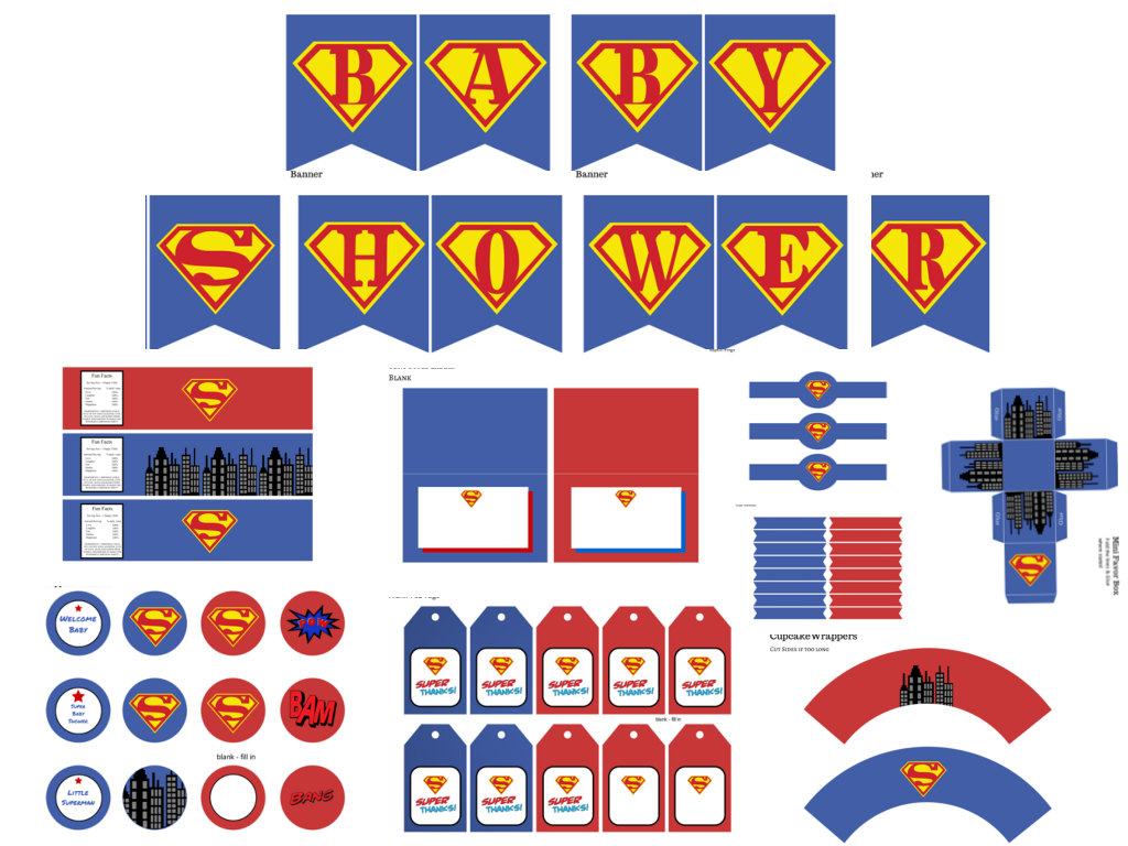 Superman Baby Shower Package