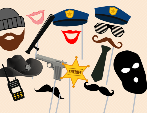 Cops and Robber Photo booth Props, police Photobooth Props, wedding Photo Booth Props, party photobooth, cops props, police props