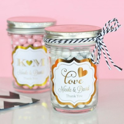 Metallic-Foil-Mini-Mason-Jars
