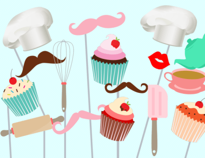 cupcake-baking-photo-booth-party-props