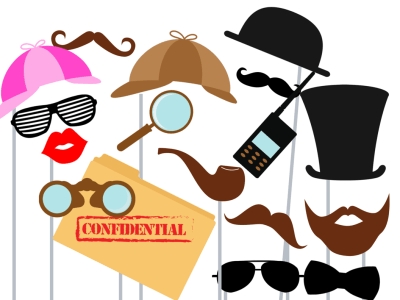 detective party photobooth props