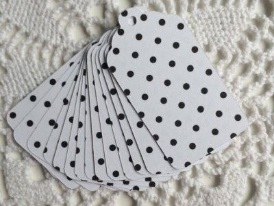 Polka Dot Paper Tags