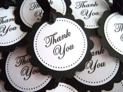 Scalloped Circle Thank You Paper Favor Tags