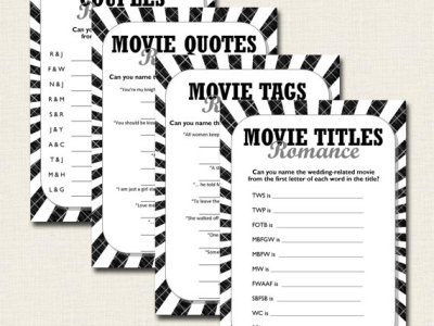 movie bridal shower games