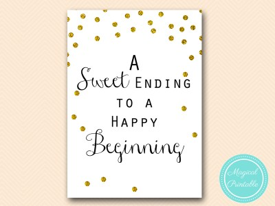 sign-sweet-ending-to-happy-beginning wedding