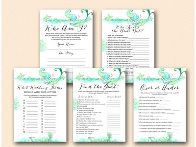 BS446-MERMAID-bridal-shower-games-beach-under-the-sea