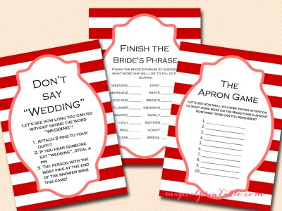 carnival bridal shower game pack, instant download, bs108, circus bridal shower games, printable games
