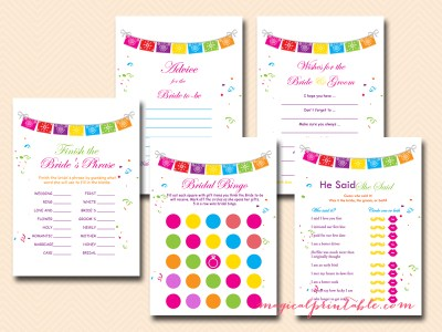 fiesta bridal shower games, luau bridal shower games, hawaiian bridal shower games