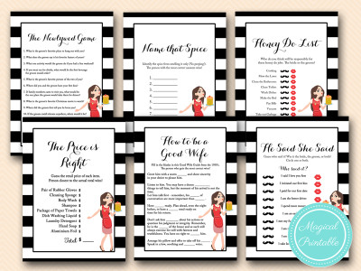 modern housewife bridal shower black and white games bs166