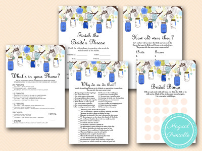 navy mason jars bridal shower game download printable bs163