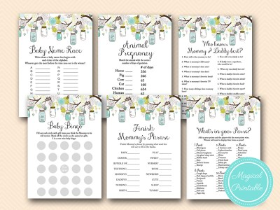 rustic-teal-mason-jars-baby-shower-games-pack-tlc146