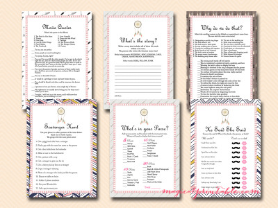 trial bridal shower games, boho bridal shower games, bs121