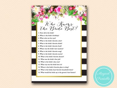 who-knows-the-bride-best pink floral black stripes gold
