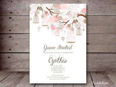 BS295-pink-floral-invitations-romantic-birdcage