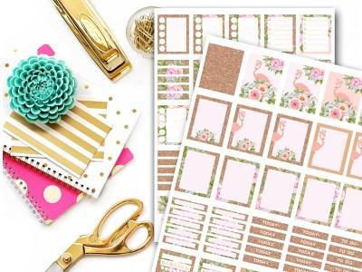 MPS17-Planner-Stickers-Printable-erin-condren-flamingo-rose-gold-planner
