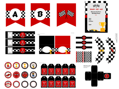 race car printable
