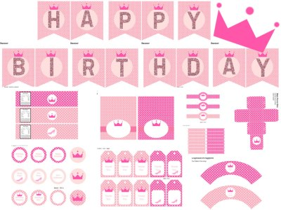 Princess Birthday Printables