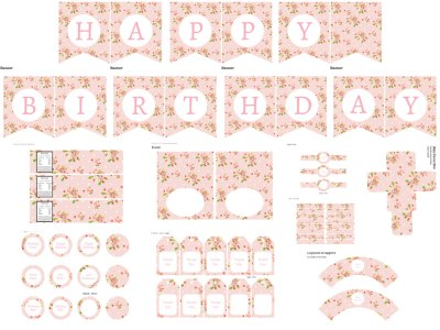 Shabby Chic Birthday Pack