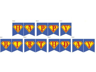 Superhero Banner in blue