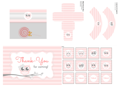 Owl Baby Shower, Owl Birthday, Owl Birthday Party, Owl Baby Shower Invitation, Owl Banner, Owl Party Package, girl baby shower, PINK Owl