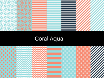 Coral Coastal Digital Paper
