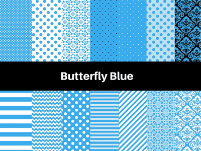 Butterfly Blue Digital Papers