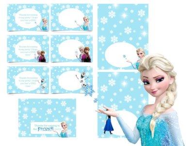 frozen printable labels