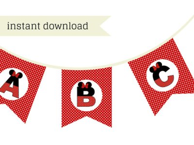 Red Minnie Mouse Banner