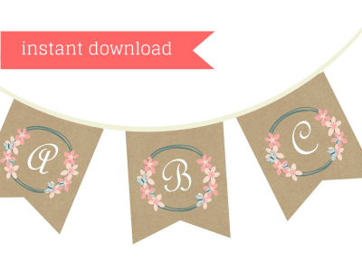 Floral BRIDAL shower printable