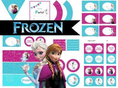 Disney's FROZEN Birthday party Printable package! Instant Download. Disney Frozen Party, Disney Princess