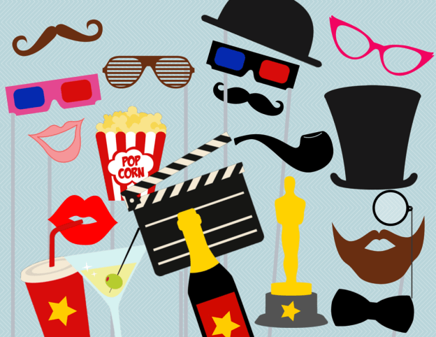 Movie Photo booth Props, Hollywood Star Photo booth Party Props, Birthday Party Props, Theatre Party PhotoBooth Props,
