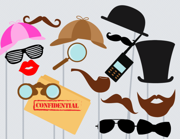 Detective Photo booth Props, Baby Shower Photo booth Props, Wedding photo booth Props, Photo Booth, Photo Booth Props, download
