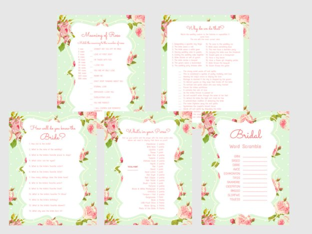 Bridal Shower Games, Printable Bridal Shower Games, Bridal Shower Game Prizes, Unique Bridal Shower Games, Fun Bridal Shower Games, bsm1