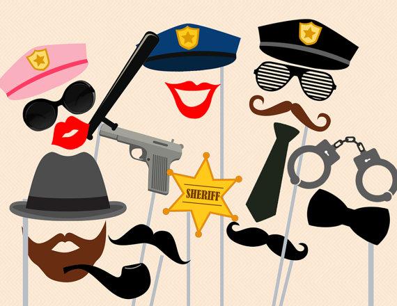 Cops Photo booth Prop