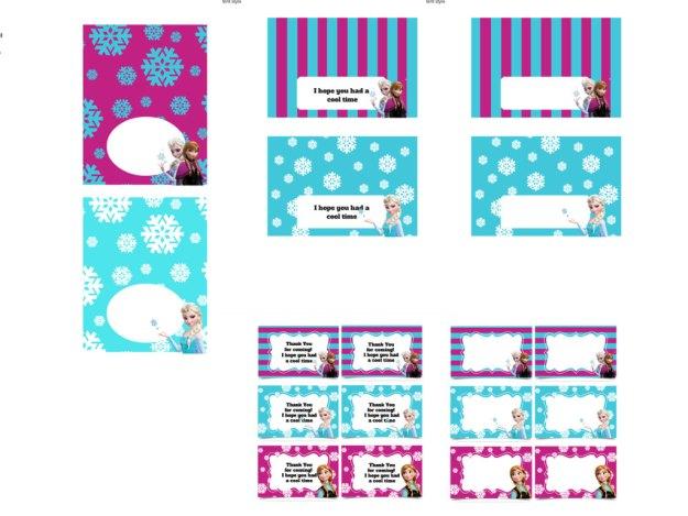 Disney's FROZEN Birthday party Printable package! Instant Download. Disney Frozen Party, Disney Princess, Frozen Banner, Elsa Party 4