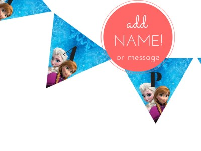 Frozen Birthday party Printable package banner