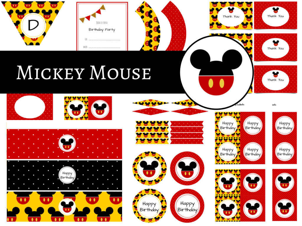mickey mouse party package magical printable. Black Bedroom Furniture Sets. Home Design Ideas