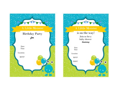 Little Monster Birthday Party Printables, Monster Baby Shower, Monster Party, Download, Monster Labels, Toppers, Monster Party Invitations