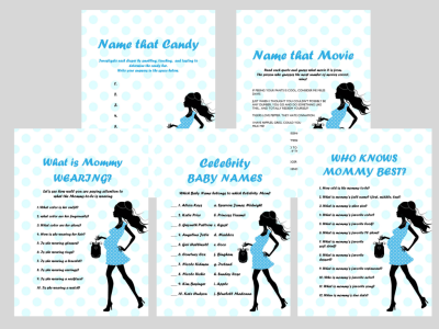 Baby Shower Printable Games, Boy Baby Shower game, Fun baby Shower Games, Download Baby Shower Games, mod01
