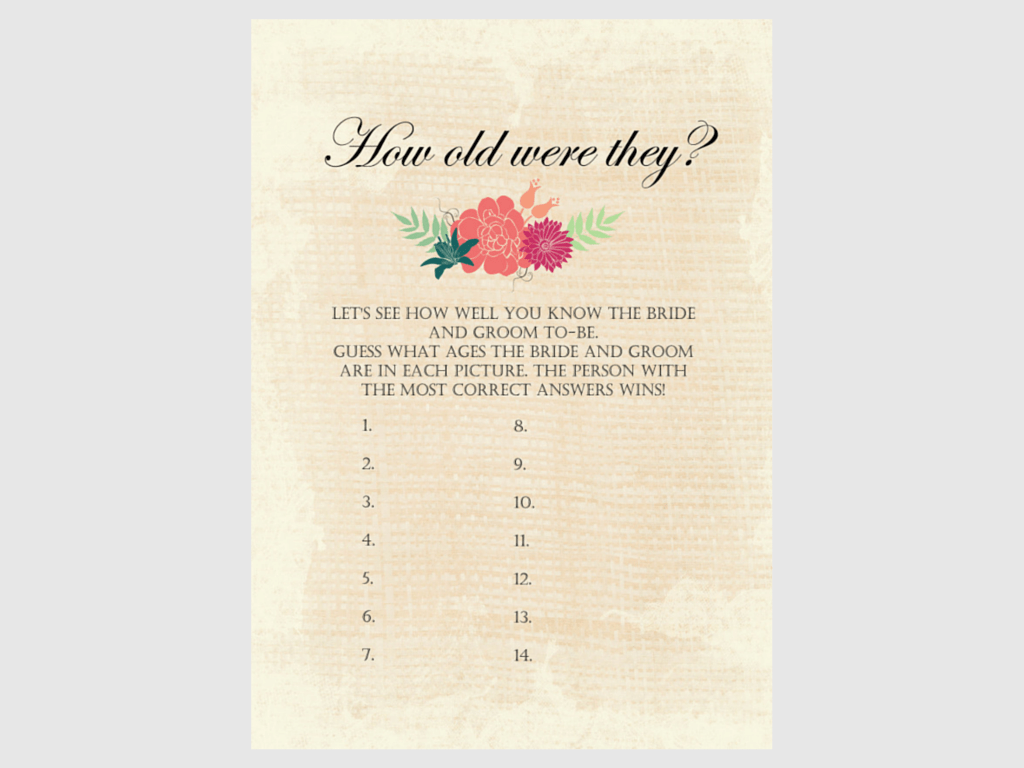 It is a graphic of Modest How Old Was the Bride to Be Free Printable