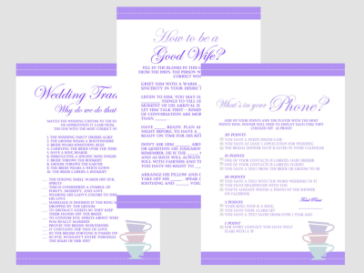 Purple Tea Party Bridal Shower Games, Lavender Bridal Shower Games, Download games, Bachelorette Games, Wedding Shower Games BS21