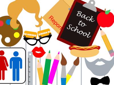 Back to School Photo booth Props, School Baby shower Photo booth Props, Back to School PhotoBooth Prop, School Party centerpiece, Graduation