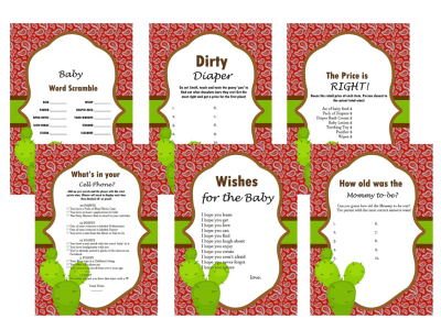 Western Baby Shower Game, Bandanna, Activity, Cowboy Baby shower, Game Prize, Unique Baby Shower, cbw1