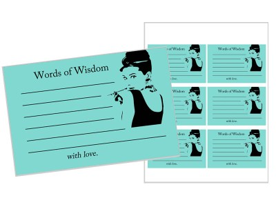 Breakfast at Tiffany's Words of Wisdom Cards