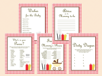BBQ baby shower games