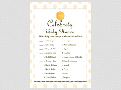 celebrity baby names cute as a button baby shower them games