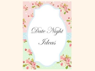 date-night-ideas-sign-mint-pink-shabby-chic-bridal-shower-games-pack-printables-vintage-rose-antique-rose