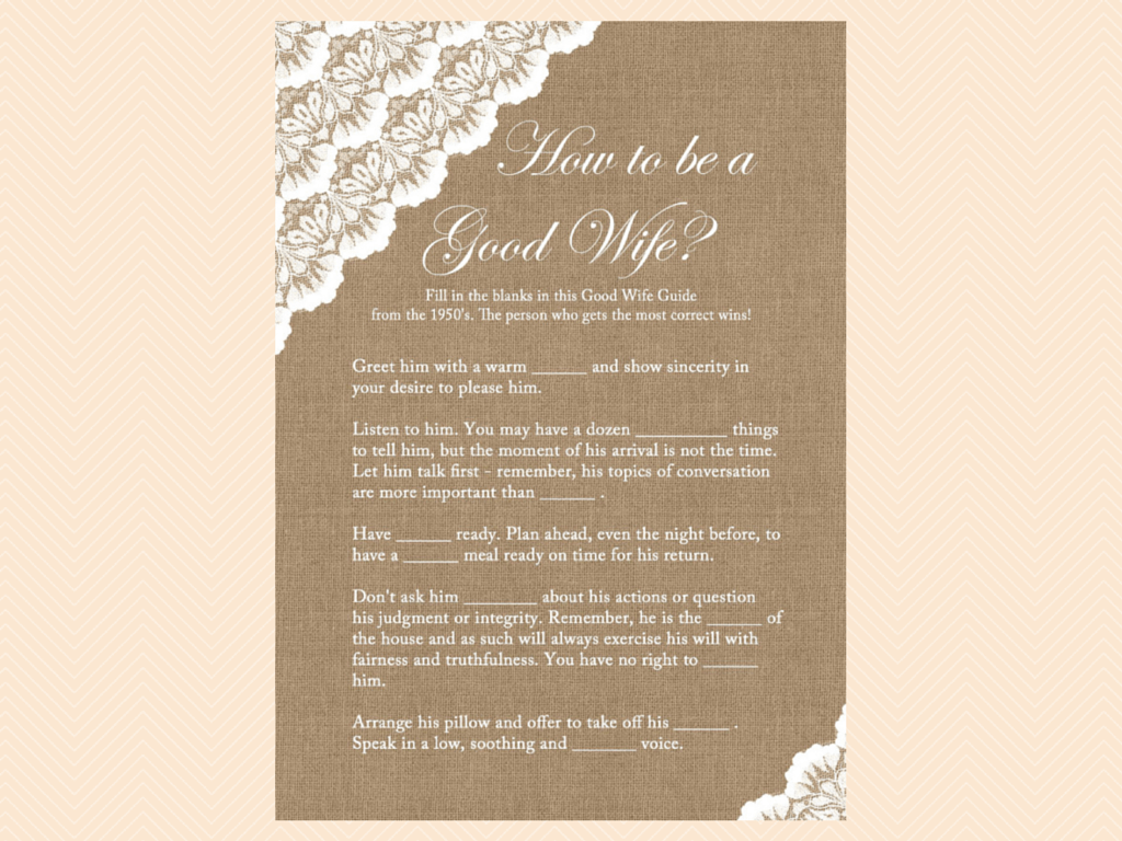 Burlap and Lace Bridal Shower Games Printables - Magical Printable