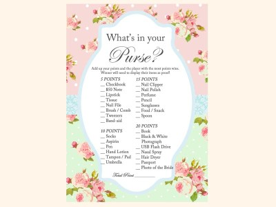 whats-in-your-purse-game-mint-pink-shabby-chic-bridal-shower-games-pack-printables-vintage-rose-antique-rose
